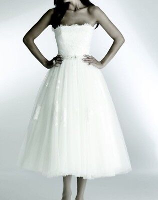 The SPOSA Spanish designer Wedding Gown Dress Tulle Size 10 Brand NEW! A Line