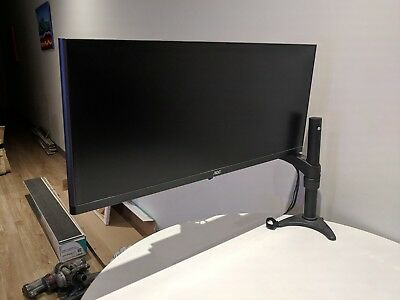 """AOC 29"""" ultrawide monitor Q2963PM and arm stand"""