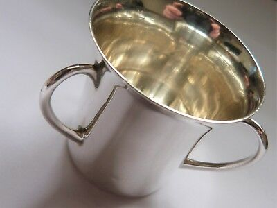 1902 - Small Solid Silver - Three Handled Tyg Cup - Wakely & Wheeler
