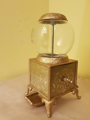 Jelly BellyOld Fashioned Glass Dome Gold Color Dispenser Year: 2007