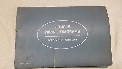 oem ford 1963 wiring diagram book galaxie fairlane comet falcon truck  original