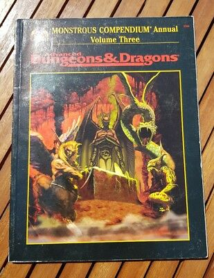 AD&D Monstrous Compendium Vol. Three (Advanced Dungeons & Dragons)