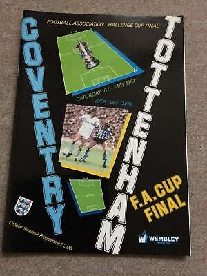 Official 1987 FA Cup Final Football Programme Coventry v Tottenham Spurs