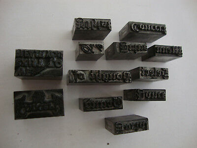 Old antique vintage Adana 1920's 30's 40's 50's printing press ink block stamps