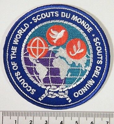 SCOUTS of the WORLD SUPPORTERS BADGE, beautiful embroidered international design