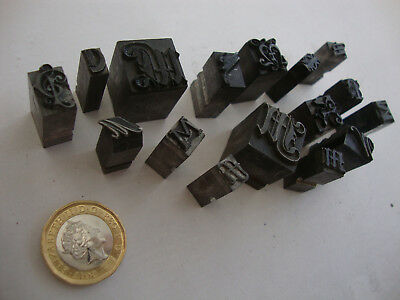 Old antique vintage 1920's 30's 40's 50's printing press ink block stamps