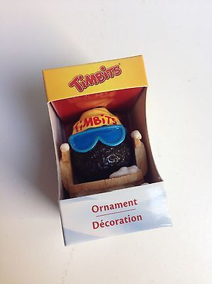 TIM HORTONS Christmas Ornament TIMBIT ON SLED SLEIGH, 2012, NEW IN BOX!