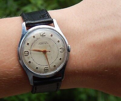 USSR Russian Soviet Vintage RAKETA 2609 Mechanical Classic Mens Watch  1950-60s