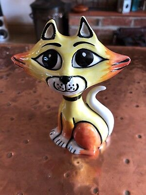 Beautiful and Extremely Rare Signed Lorna Bailey 'Posh' Cat Ceramic Figure