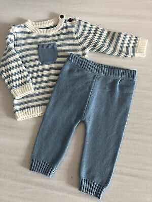 BNWOT baby Boys Knitted Set From M&S - 3-6 Months