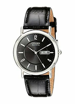 Citizen Mens Eco-Drive Stainless Steel Watch W/ Leather Band