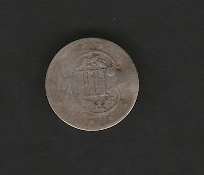 1854 Three Cent Silver Piece Vintage US Coin