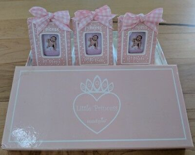 Brand New In Box Little Princess Mud Pie Baby Girl Picture Frame Set First Steps