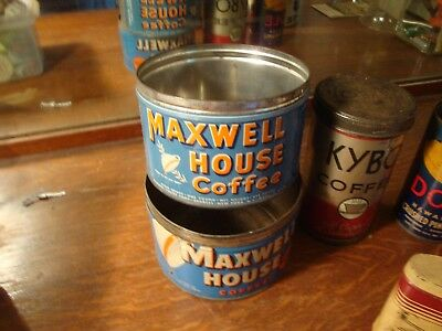 Vintage Coffee cans and other LOT of 7 No Reserve