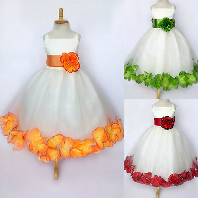 Flower Girl Bridesmaids 803 Crystal Organza Summer Elegant  Girl Dress #35