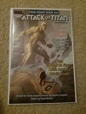 Attack on Titan #1 Free Comic Book Day FCBD 2017
