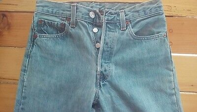 Vintage Levis 501xx WOMEN Jeans MEASURED 29X38 USA MADE Inseam 27 inches