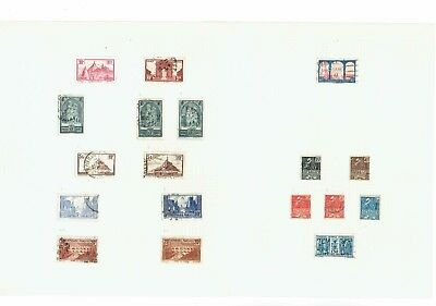 #672 France 1929-49 M/U collection hinged on 52x leaves in springbinder