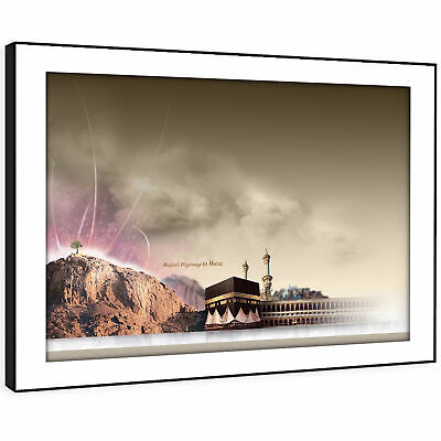 SC468 Brown Purple Mecca Beautiful Landscape Framed Wall Art Large Picture Print