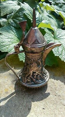 vintage morrocan miniature decorative coffee/teapot marked SILVER