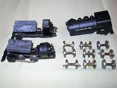 HO Scale AHM/Rivarossi 0-4-0T Docksider Motors Frames Wheels & Weights
