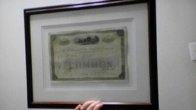 Baltimore and Ohio Railroad Framed Stock Certificate