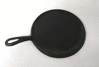 "Vintage ANTIQUE Cast Iron 8"" Round Griddle ""A"" & ""8"" Marking OLD Cookware RB3"