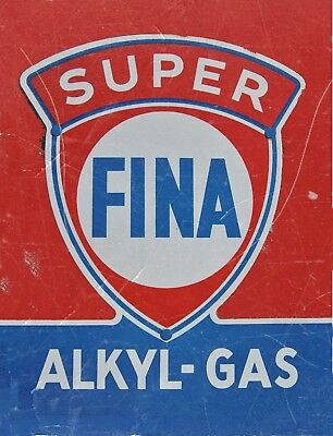 """TIN SIGN """"Super Fina Vintage""""   Gas-Oil   Signs  Rustic Wall Decor"""