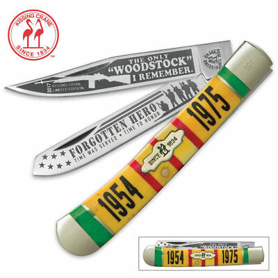 Kissing Crane Limited Edition 2017 Vietnam Trapper  Folding Pocket Knife KC5417