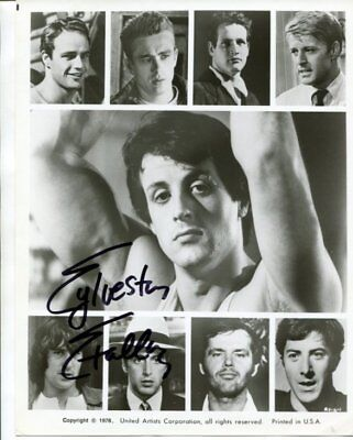 rocky SYLVESTER STALLLONE autograph HAND SIGNED  5954