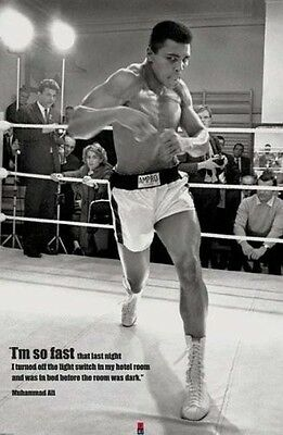 "Muhammad Ali ""I'm So Fast"", Sports Poster Print Wall Art 24 x 36 Memorebilia"