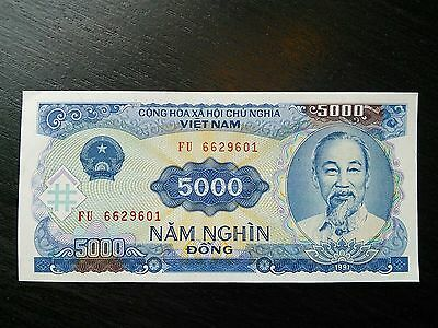 $5000 Vietnamese Dong Vietnam Banknote Currency VND UNC Uncirculated Sequential