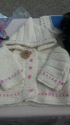 Hand Knitted Toddlers Cardigan 12-18months