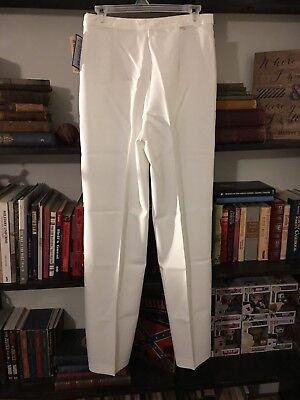 NWT VINTAGE 70's High Waist Levi's Bend Over Bendover Pants White Size 14