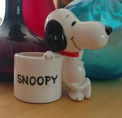 Vintage Snoopy 1966 Ceramic small Planter Mint condition
