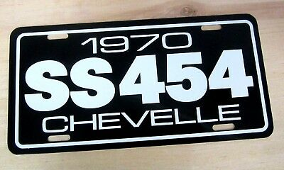 1970 Chevrolet SS 454 Chevelle Super Sport license plate tag 70 BIG BLOCK CHEVY