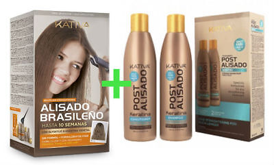 Kativa Keratina & Argan Oil Kit Alisado Brasileño + Kit Post Alisado (2x250ml)
