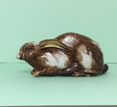 Rare & Unusual Antique Hollow Recumbent Rabbit Possible Cover For Match Striker