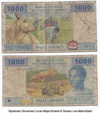 Central African States T 1000 Francs Congo P107T
