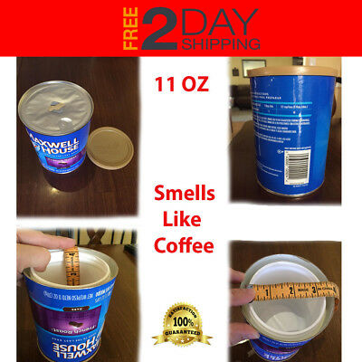 Coffee Diversion Safe Hidden Home Security Secret Stash Hide Jewelry Cash Money