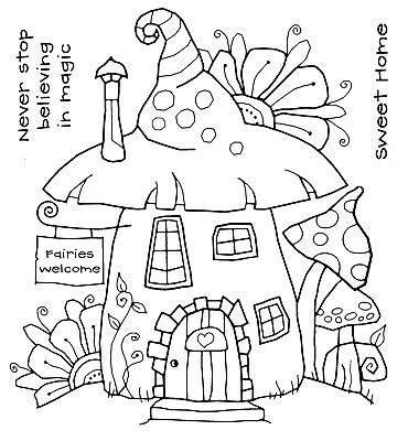 FAIRY HOUSE - Clear Magic Stamp - Woodware