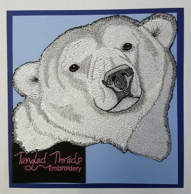 "Polar Bear Embroidered Patch 7.9""x 7.2"""