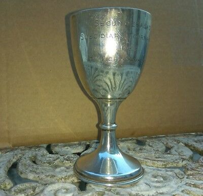 """Solid Silver cup hallmarked 1926 Secunderabad Sub 7th light cavalry """"A"""" India"""