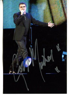 GEORGE MICHAEL autograph HAND SIGNED  6125