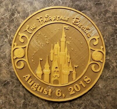 Personalized Magic Kingdom Themed Wedding Gift Plaque ( Disney Home Decor )