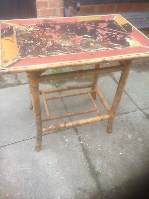 Bamboo table for restoration