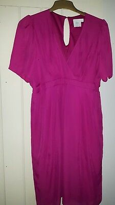 ASOS Pink Maternity Occasion Wedding guest Dress Size 16