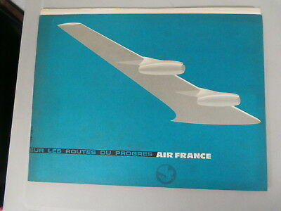Brochure Depliant Air France Sur Les Route Du Progres Couverture Par Jean Collin