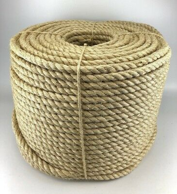 NEW NATURAL SISAL CAT SCRATCH POST ROPE 6MM x 6 METRE HANK PARROT PET TOYS