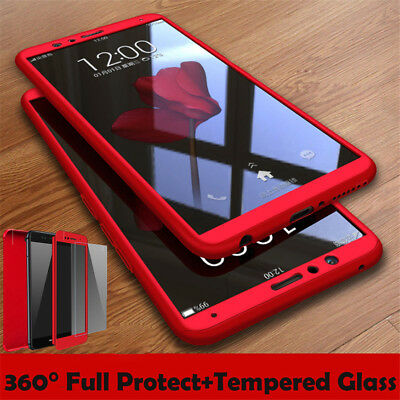 For Huawei Y7 Y6 Pro Y9 2018 360° Full Cover Protect Hybrid Case+ FREE Protector